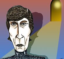 John Lennon Cartoon Caricature by Grant Wilson