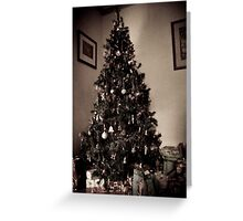 Antique christmas Tree Greeting Card