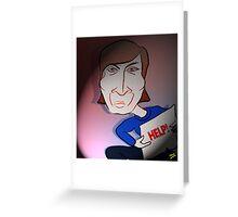 John Lennon Digital Cartoon Caricature Greeting Card