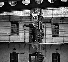 Spiral Staircase, Panopticon, Kilmainham Gaol, Dublin by Lisa Hafey