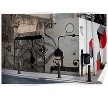 quirky street art feature wall Poster