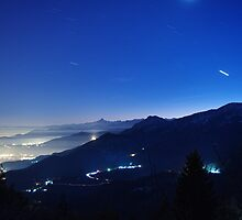 Val di Susa at night by Guy Carpenter