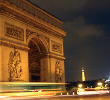 Circling the Arc de Triomphe by Kara Rountree
