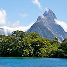 Mitre Peak#1, Milford Sound, South Island, New Zealand. by johnrf
