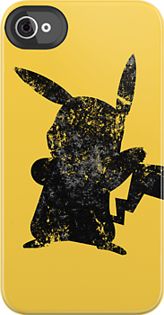 Distressed Pikachu Silhouette  by HighDesign