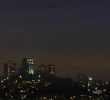 Coit Tower At Night by David Denny