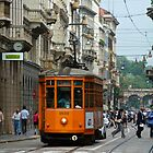 Tram in Milan by Ommik