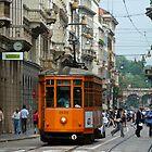 Tram in Milan by Ommik