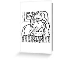 Hair Peace: Digital John Lennon Caricature Greeting Card