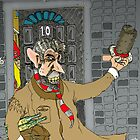 Tony Blair: Number Ten Cartoon Caricature by Grant Wilson