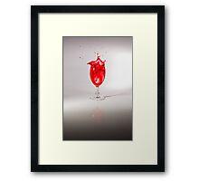 Rose Wine Splash Framed Print