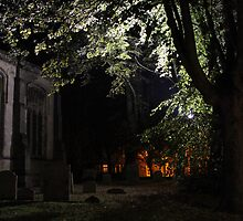 Graveyard illumination by JHuntPhotos