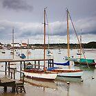 Boats at Woodbridge by Ian Merton