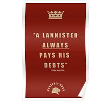 Lannister Quote Poster