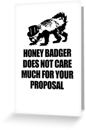 Honey Badger Does Not Much Care by jezkemp