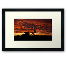 Alone at the Drive In Movie - Whitecliffs NSW Framed Print