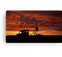 Alone at the Drive In Movie - Whitecliffs NSW Canvas Print
