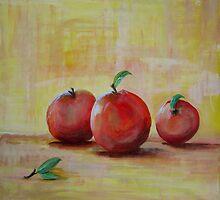 Three Apples by Linda Ridpath