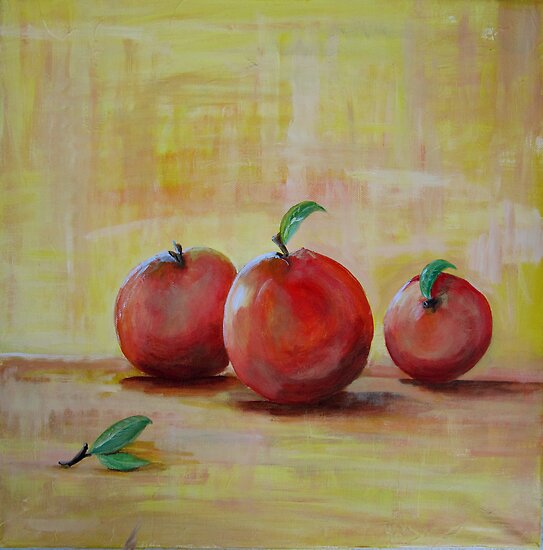Three Apples by Linda Ridpath