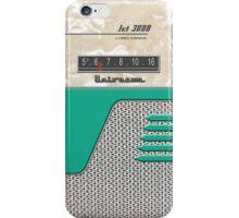 Transistor Radio - 50's Jet Green iPhone Case/Skin
