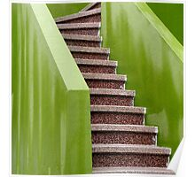 Chartreuse Stairway Poster