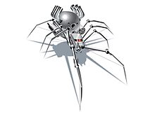 Nano Tech War Spider Photographic Print