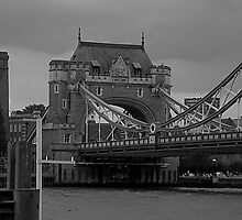 Tower Bridge viewed from the entrance to St Katherines Dock. by tunna