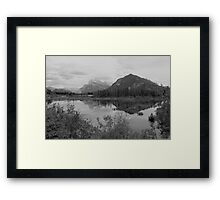 Mount Rundle & Sulphur Mountain Framed Print