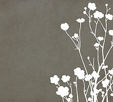 Buttercups in Gray & White by Elle Campbell