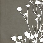 Buttercups in Gray &amp; White by Elle Campbell