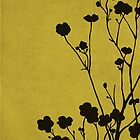 Buttercups in Mustard &amp; Gray by Elle Campbell