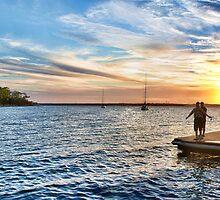 Murray's Sunset Panorama by Tam  Locke