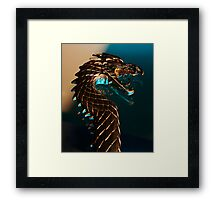 Knight of the dragon Framed Print