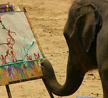 Elephant Artist by RobsVisions