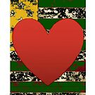 American Expressionism-Ace of Hearts by Peter Simpson