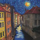 Prague by Moonlight by Jo-Anne Gazo-McKim