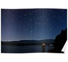 South Holston Lake Star Trails Poster