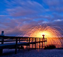 Pier Burn by Stephen Humpleby