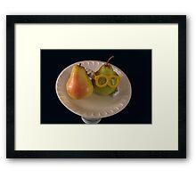 Pear Parody .07 Framed Print