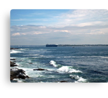 On Our Way Out To Sea Canvas Print