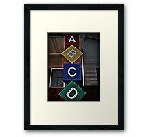 Now I've Learned my A-B-Cs Framed Print