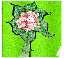 Scribblertoo Rose Poster