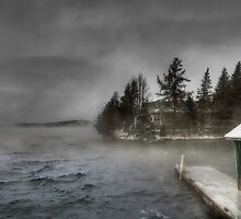 Smoke on the water - Georgeville, Qubec by Sylvain Dumas