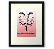 Remember remember Framed Print