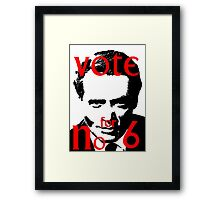 Vote #6 Framed Print