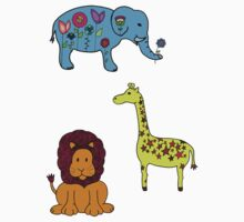 Animal Sticker Set by purplesmoke17