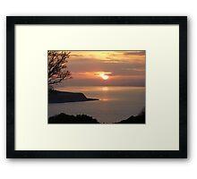 Winter Sunset On Inch Island Framed Print