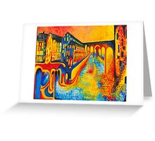 street of colours Greeting Card