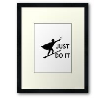 Harry Potter Just Do It Framed Print