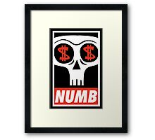 Obey the Numb$kull Framed Print